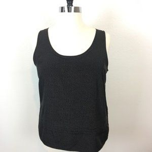 Gap Black & Taupe/Gray Polkadot Tank Top Size XL